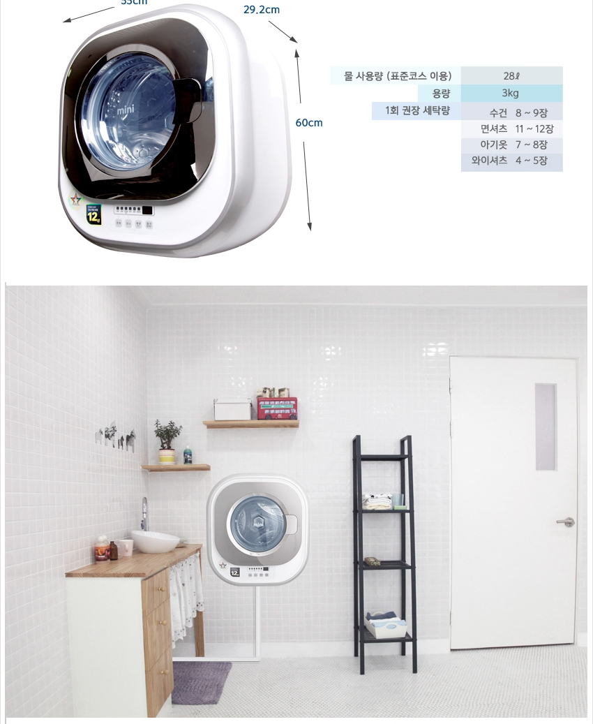 Wall-mounted Washing Machine aposMiniapos by Daewoo is