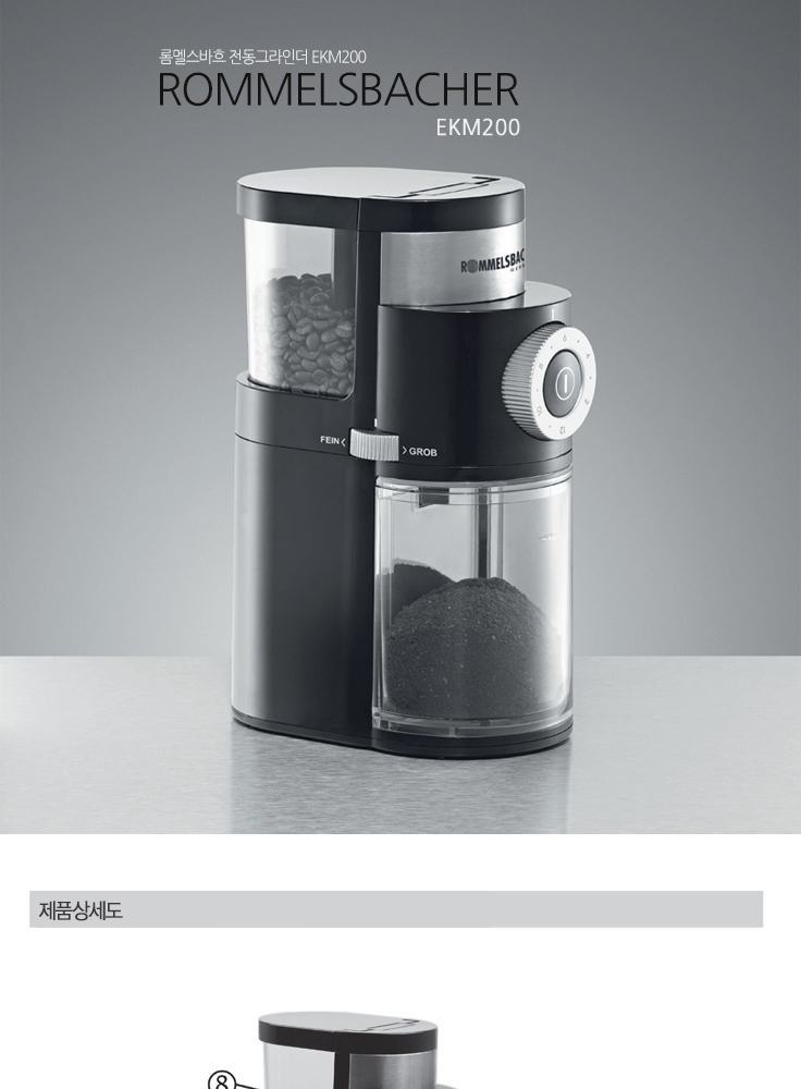 Electric Coffee Grinder ~ Rommelsbacher electric coffee grinder autometic
