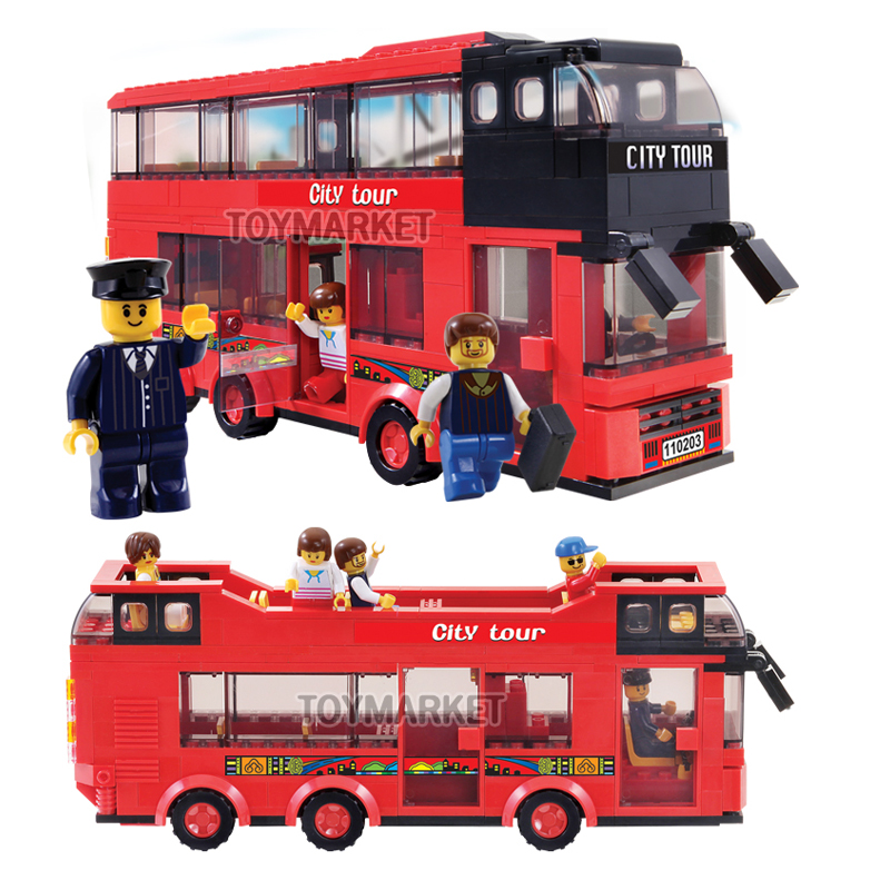 oxford lego style block toy ch3241 city tour bus 3 in 1 change