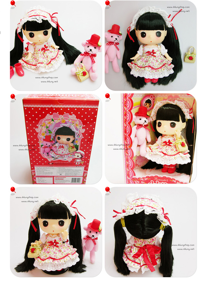 Collection-DDUNG-Doll-Romantic-ddung-II-Black-Hair-Doll-Kid-Children-Girl-Gift