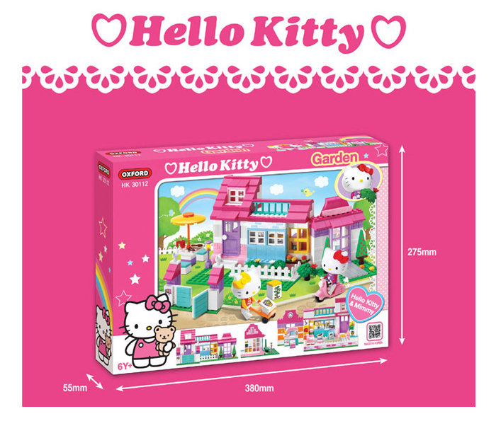 Oxford-Lego-Style-Kids-Block-Toy-Hello-Kitty-Garden-HK30112