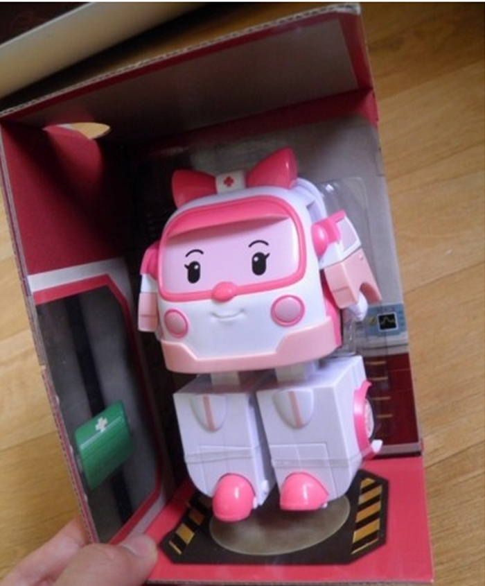 POLY-Police-Car-Transformer-Robot-Toy-Boy-Kids-Gift-Ember