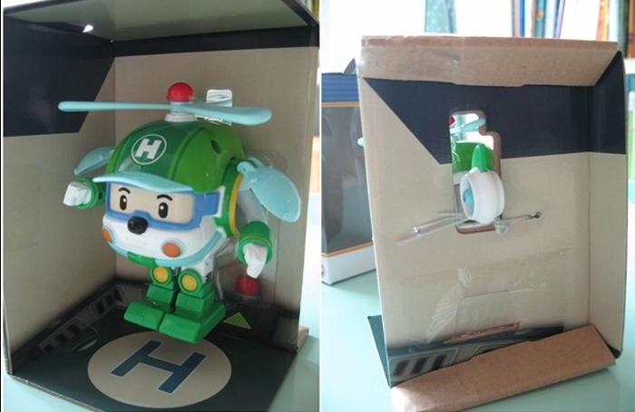 POLY-Police-Car-Transformer-Robot-Toy-Boy-Kids-Gift-Heli