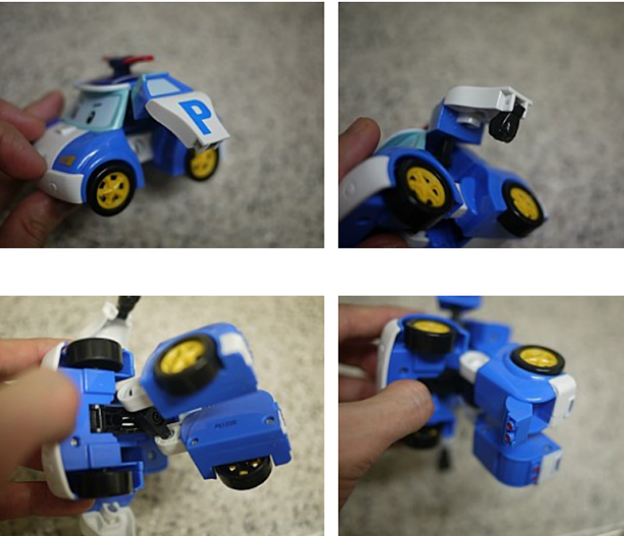 POLY-Police-Car-Transformer-Robot-Toy-Boy-Kids-Gift-Poly