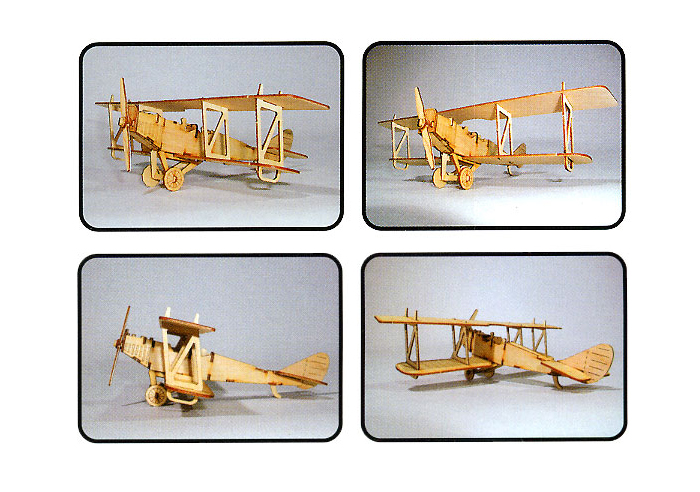 Wooden-Model-Aircraft-Kits-Junior-Series-Scale-models-Biplane