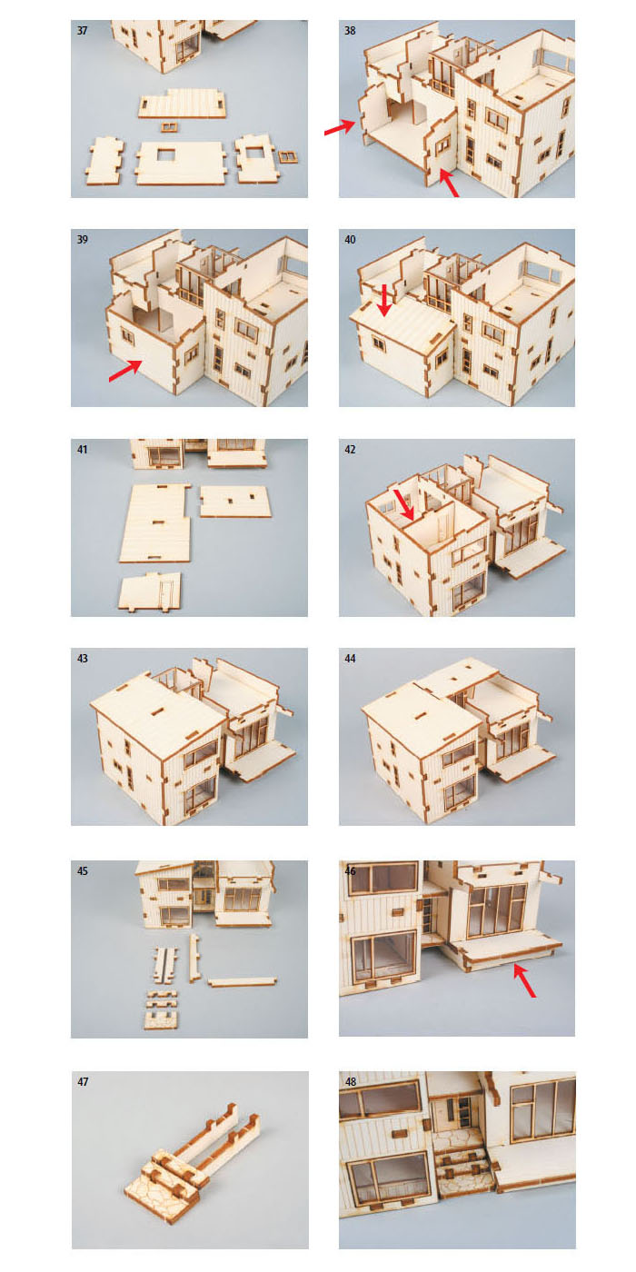 About wooden model house kits korea series scale models modern house