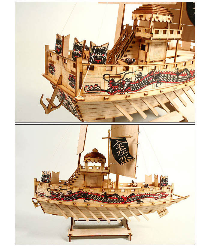 Wooden-Model-Ship-Kits-Junior-Series-Scale-models-Pan-Ok-Ship-Junior
