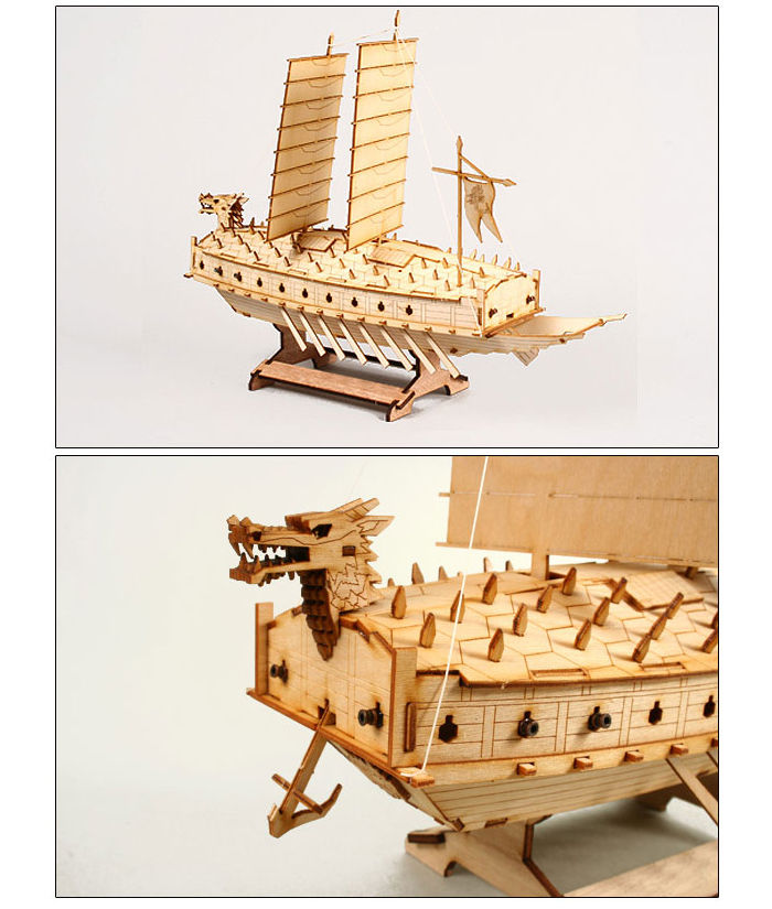 Wooden-Model-Ship-Kits-Junior-Series-Scale-models-Turtle-Ship-Junior