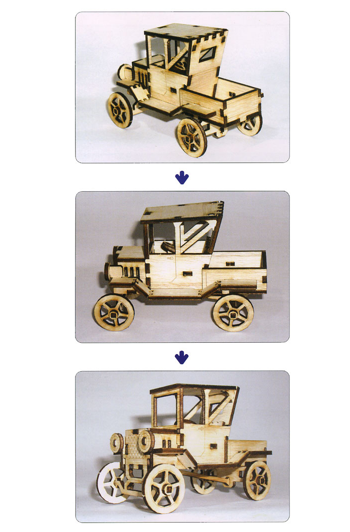 Wooden-Model-Transportaion-Kits-Junior-Series-Ford-Model-T-Pick-up-Truck