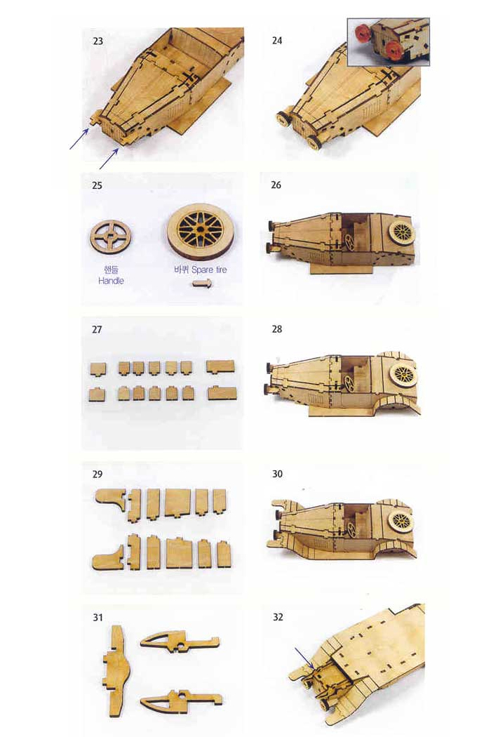 Wooden-Model-Transportaion-Kits-Junior-Series-Scale-models-Classic-Car-2