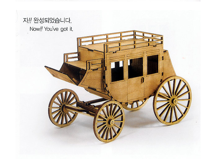 Wooden-Model-Transportaion-Kits-Junior-Series-Scale-models-Western-Carriage